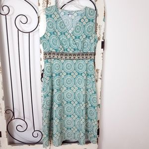 Croft & Barrow cotton sleeveless dress size 12